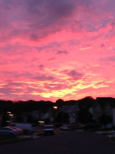The sky this evening